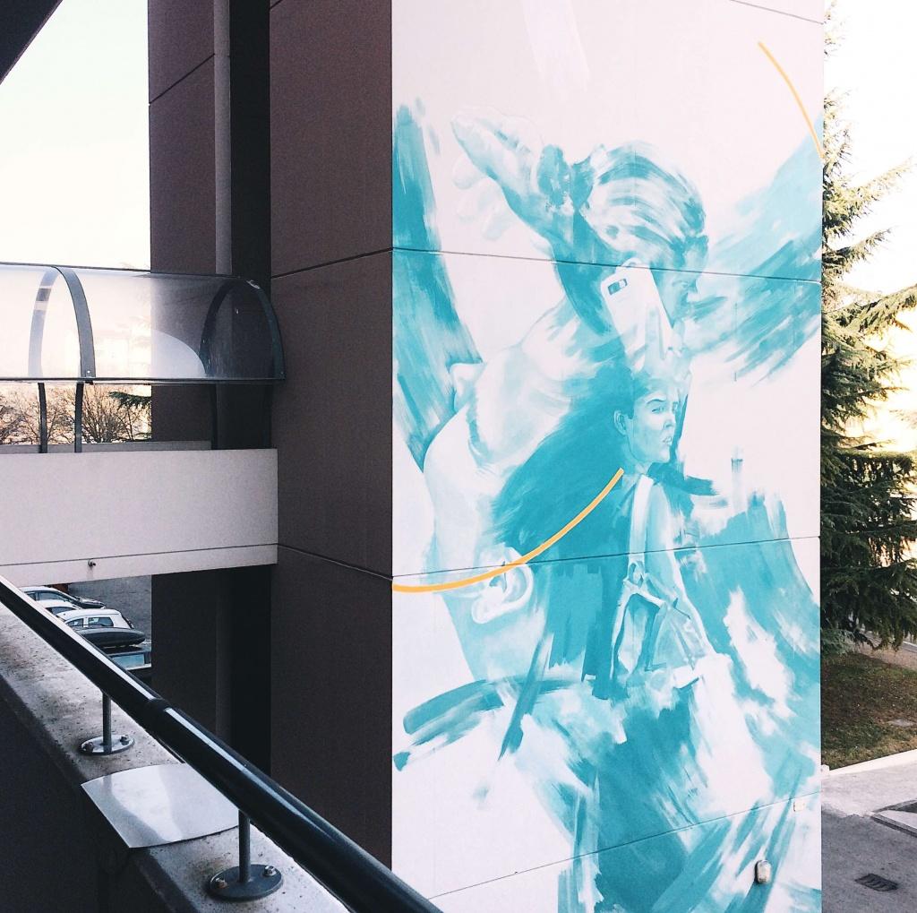 Dettaglio dell'opera di Kerotoo e Renove a Udine