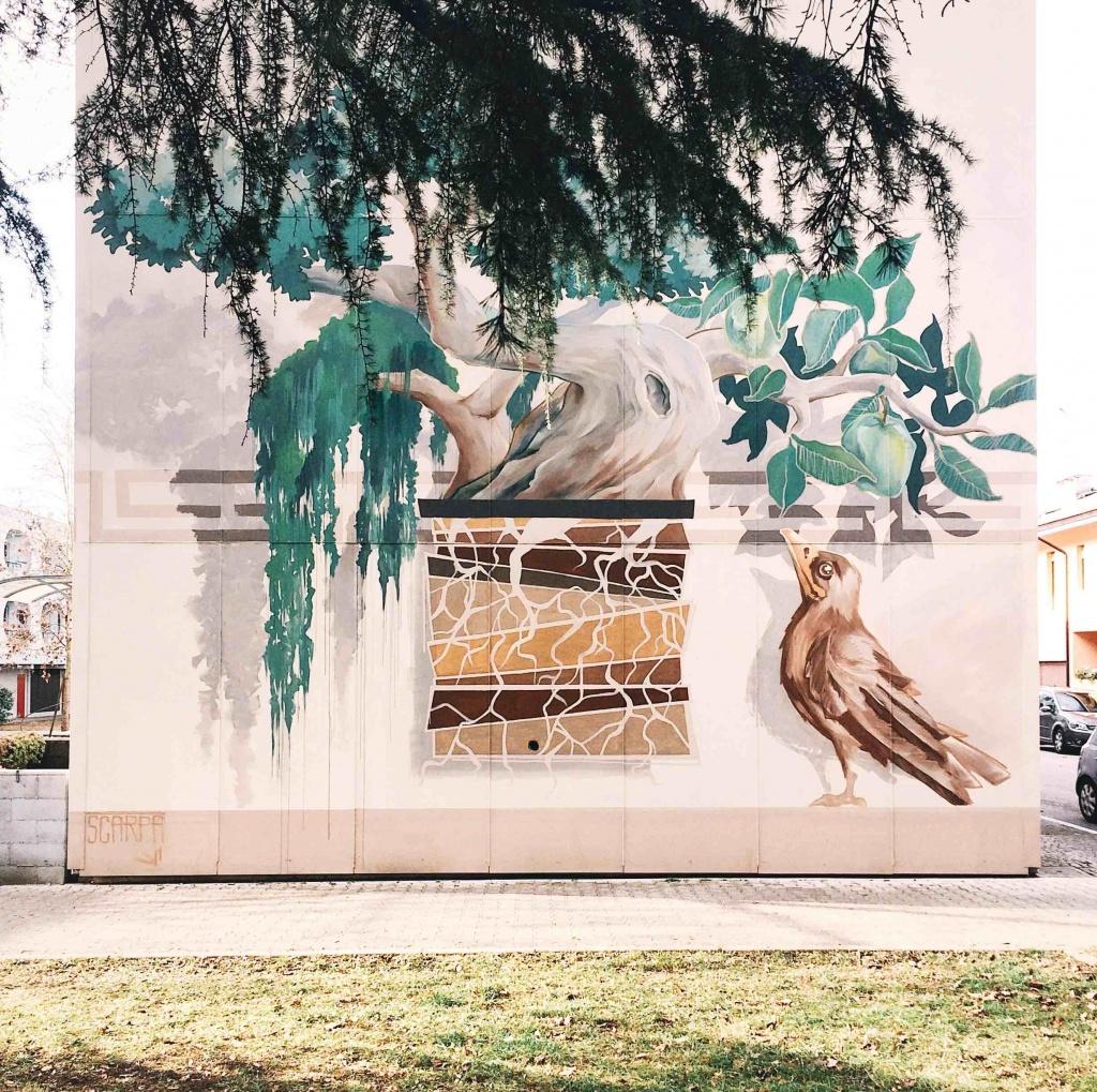 Opera dello street artist Scarpa a Udine