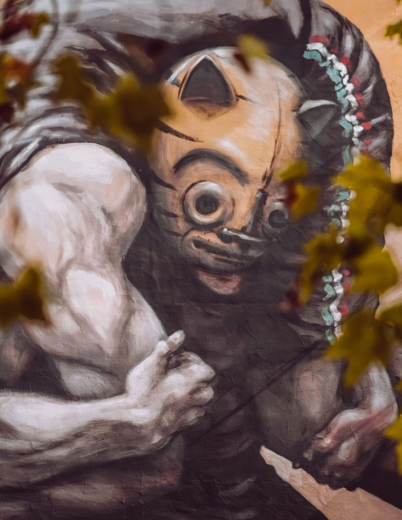street art a roma murales dei lottatori