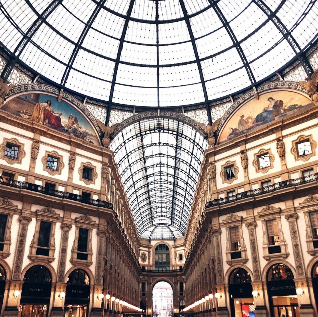 Galleria Vittorio Emanuele a Milano uno dei posti più instagrammati della città