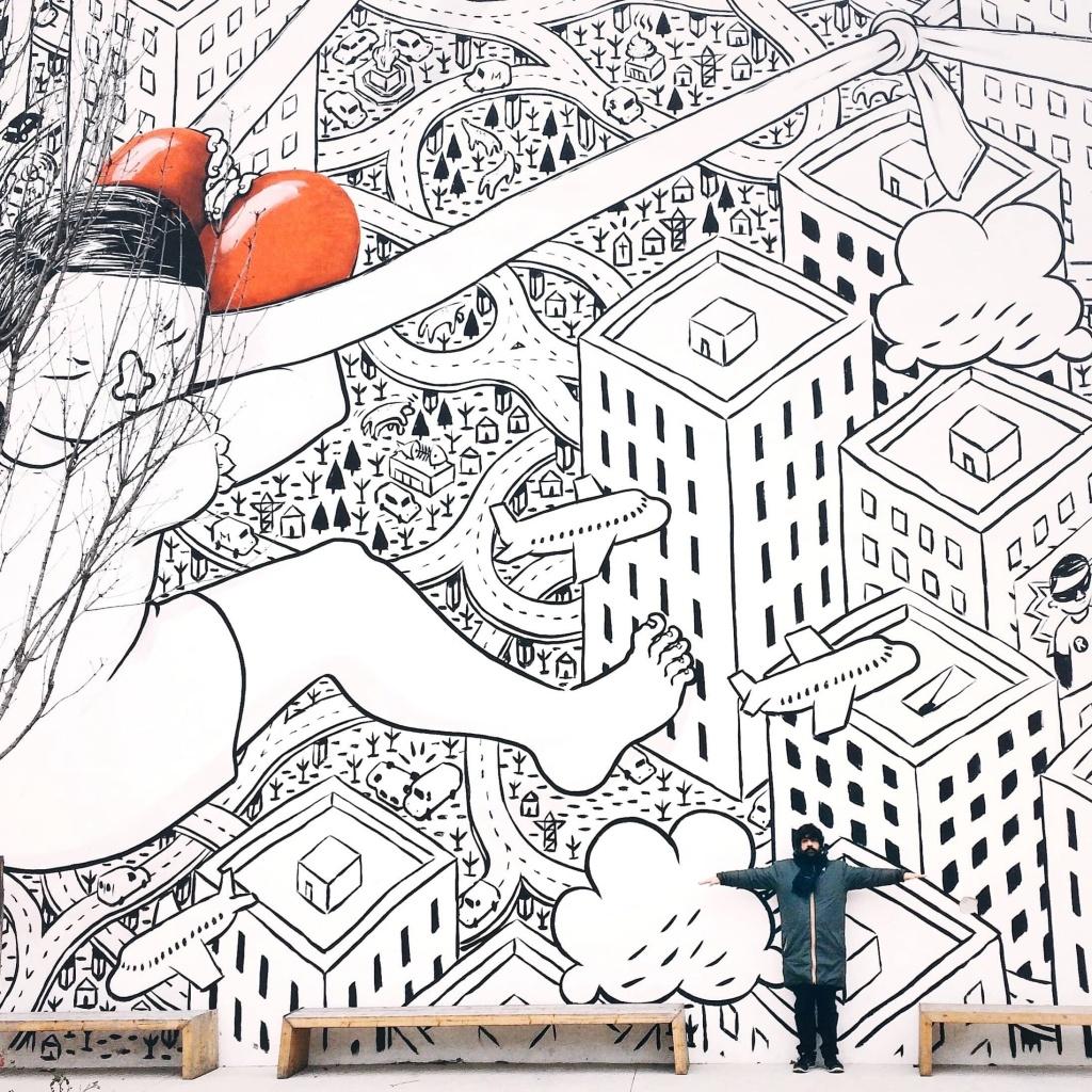 i luoghi più instagrammati di Milano: il Giardino delle culture con il murales di Millo