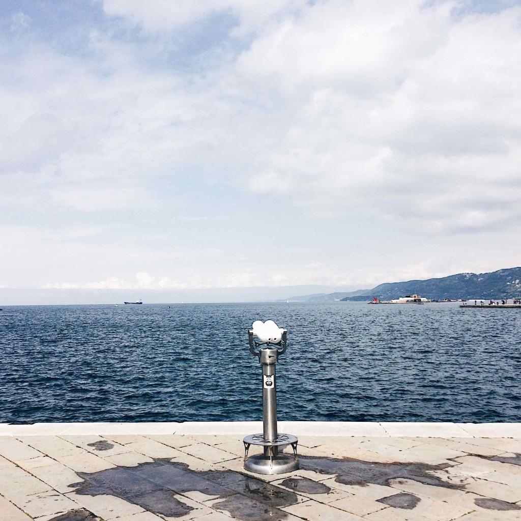 Vista del mare di Trieste