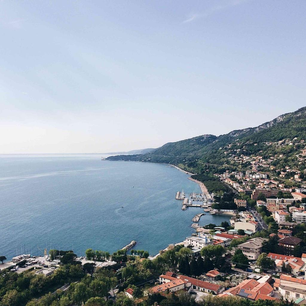 Vista sul Golfo di Trieste dal Faro della Vittoria