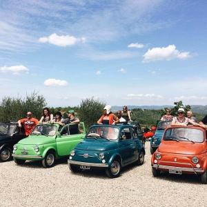 Tour del Chianti in 500 d'epoca