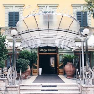 Esterno in stile liberty dell'Hotel Tettuccio