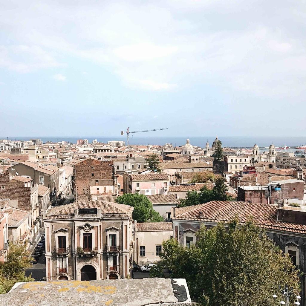 Vista panoramica di Catania