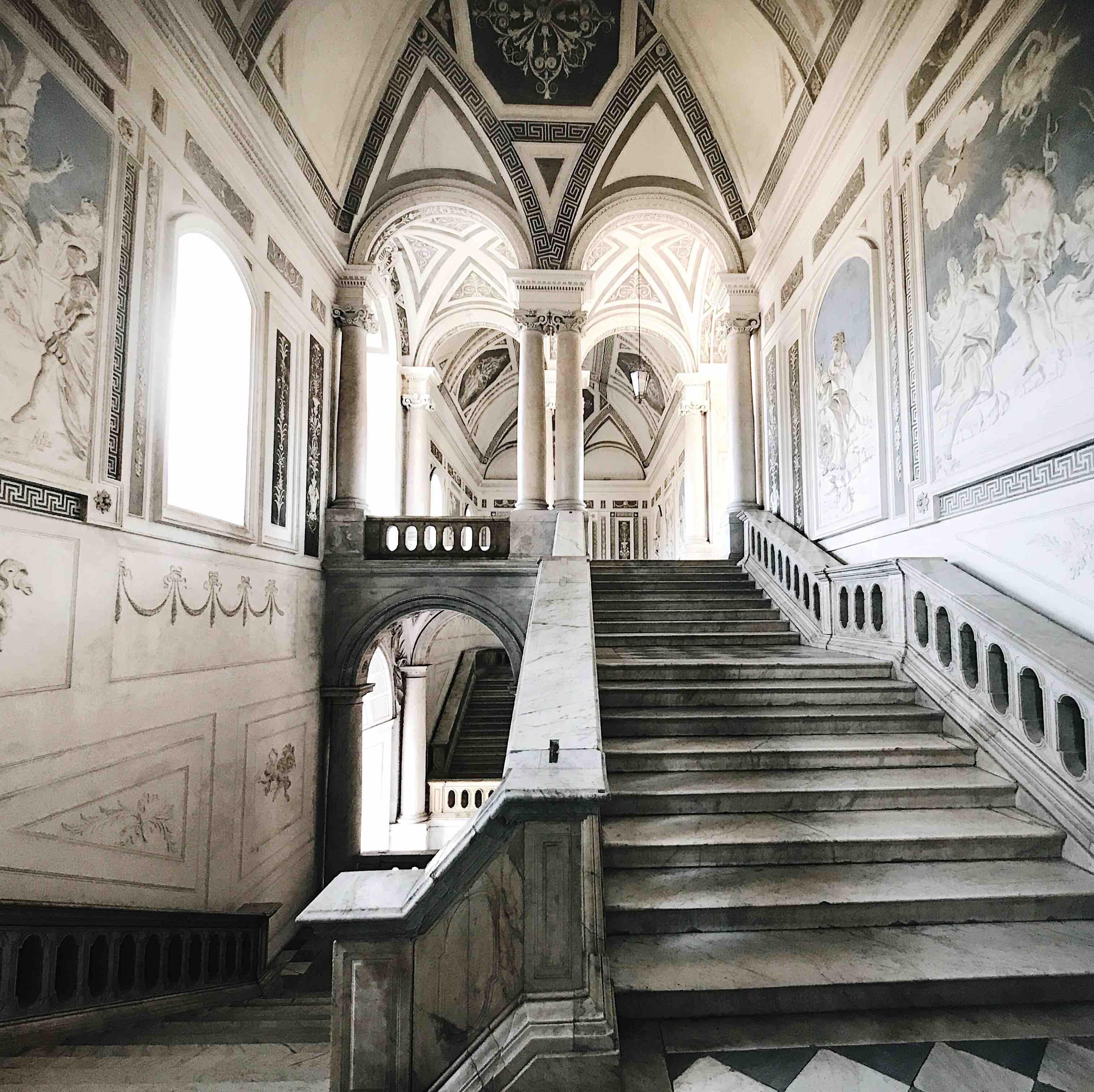 Scalone monumentale del Monastero dei benedettini