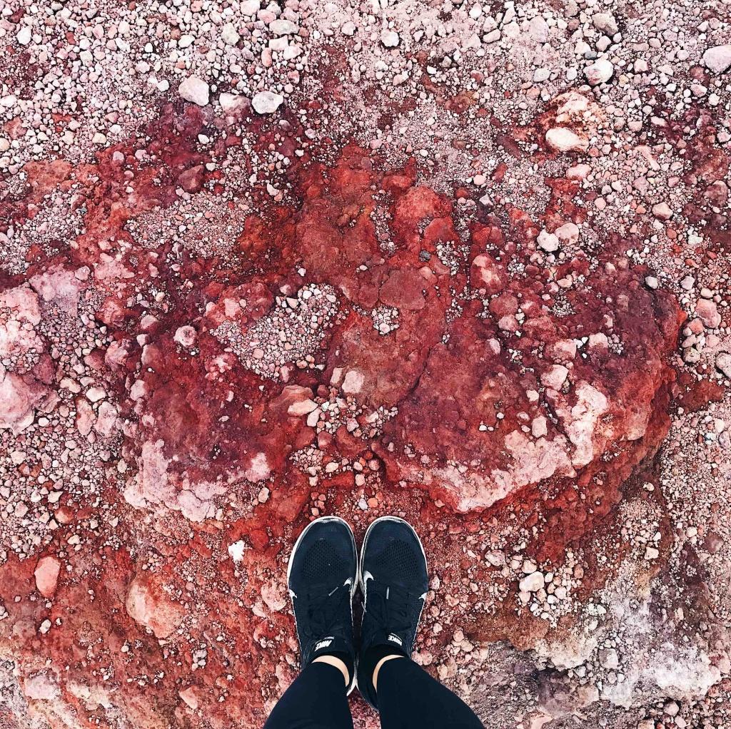 Escursione sull'Etna la terra rossa del cratere inferiore