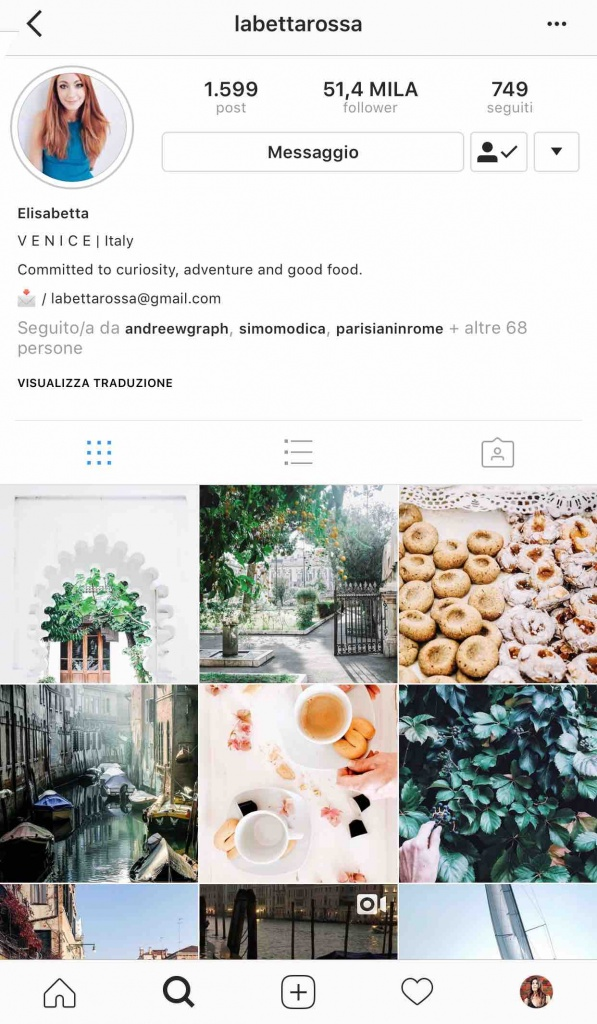 9 instagramers italiane: @labettarossa