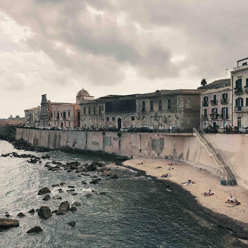Vista sul mare di Ortigia