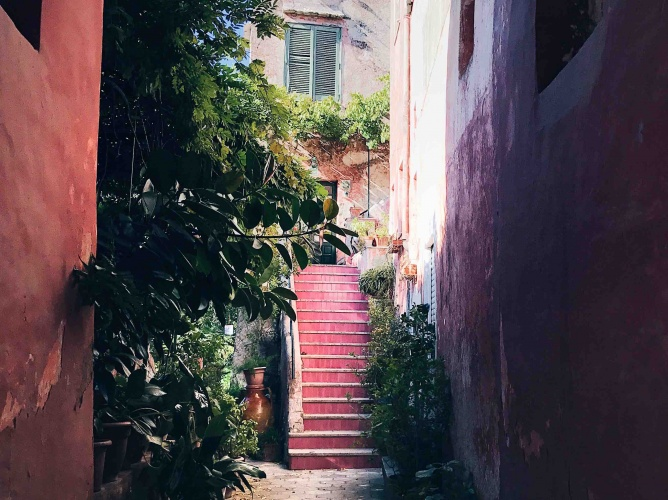 Tour di Capri in Autunno: villa rosa