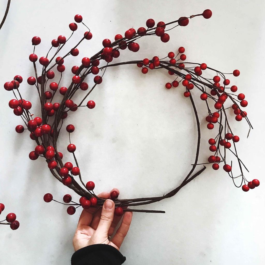Come fare una ghirlanda natalizia in pochi minuti: creare la ghirlanda