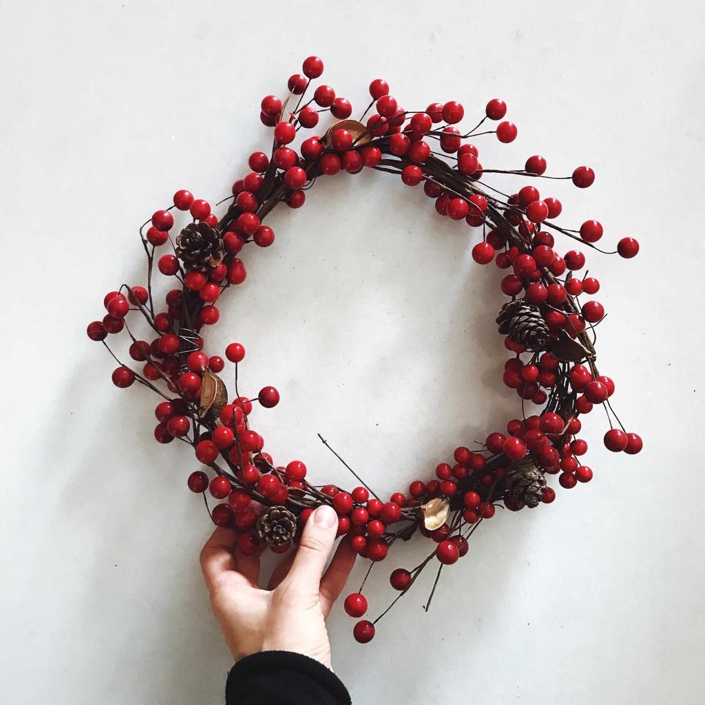 Come fare una ghirlanda natalizia in pochi minuti: la ghirlanda finita