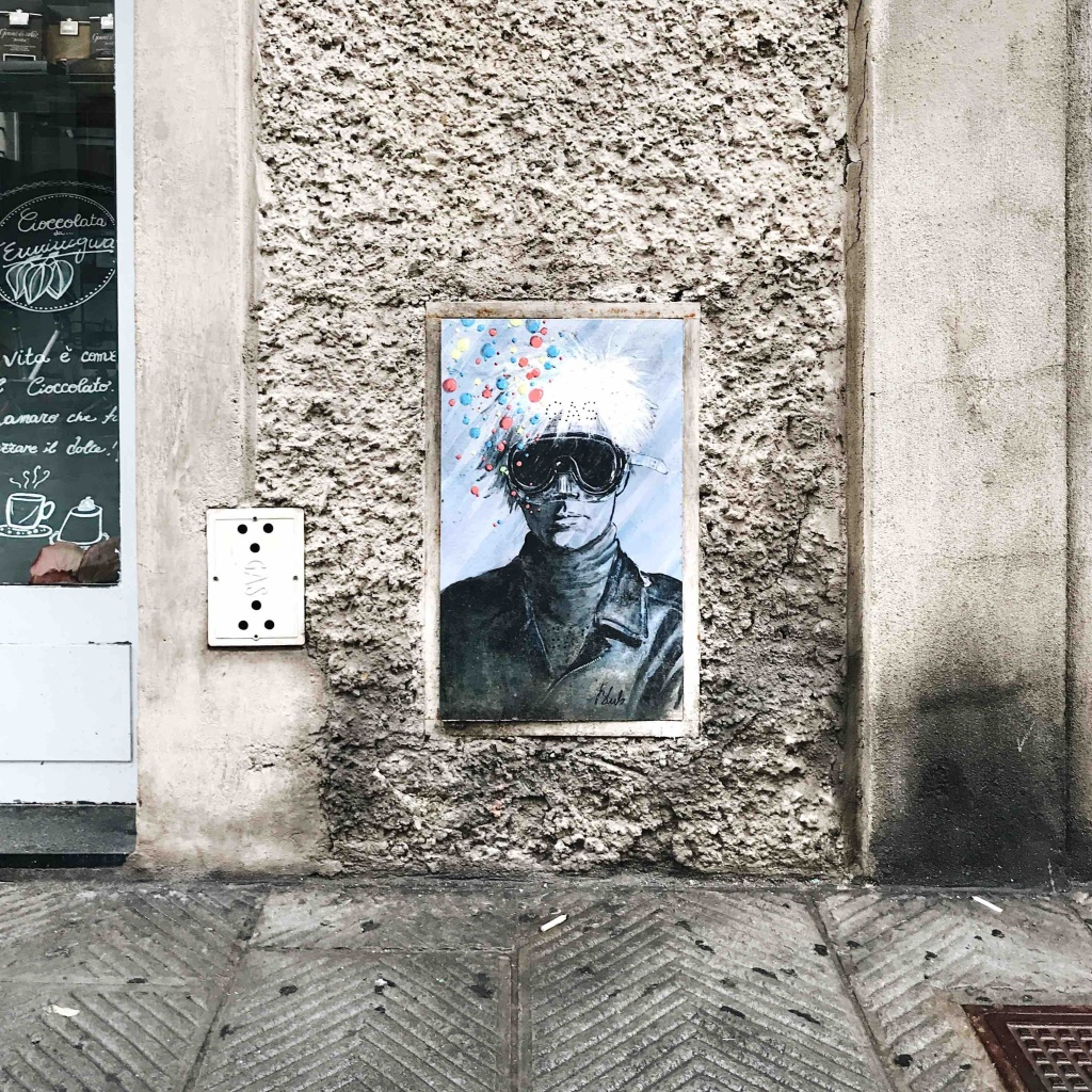 Itinerario alternativo a Firenze: street art Blub Andy Warhol