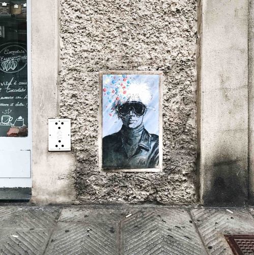 Itinerario alternativo a Firenze: street art Blub Andy Warhol