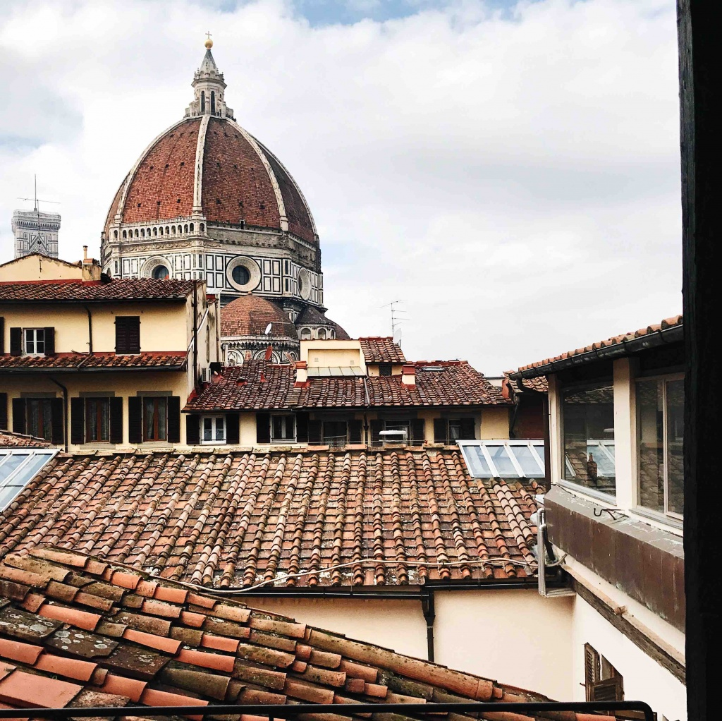 Itinerario alternativo a Firenze: vista panoramica dal bar della Biblioteca delle Oblate
