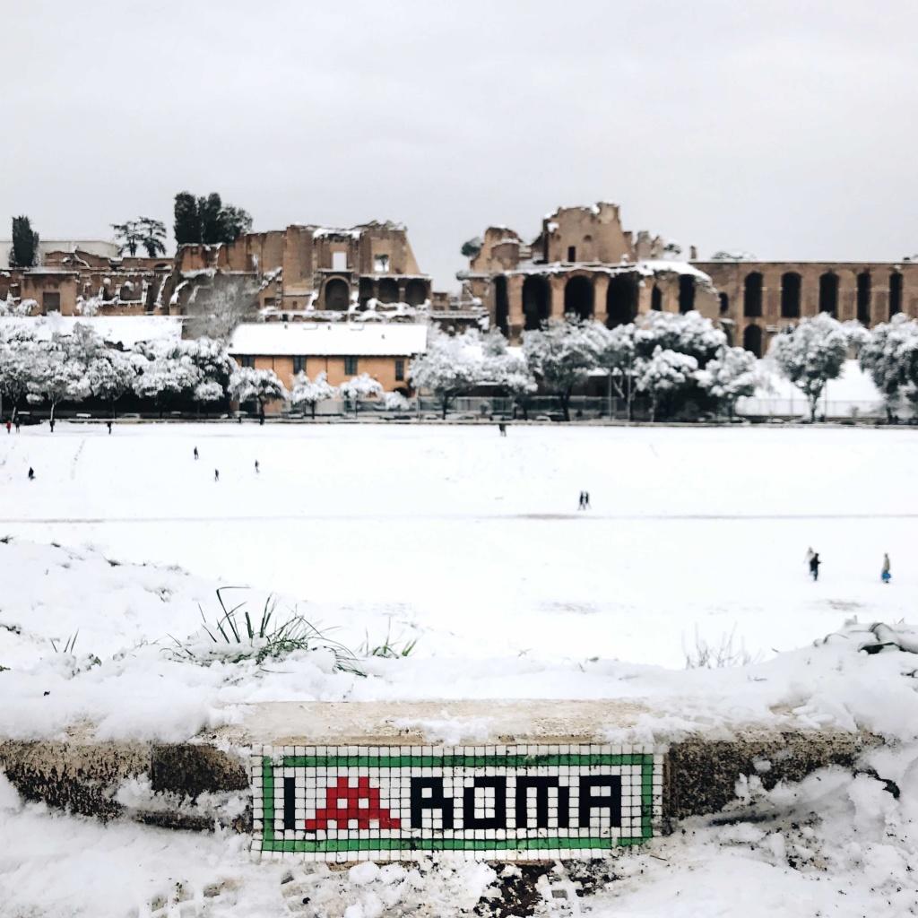 Neve a Roma: i Fori Imperiali