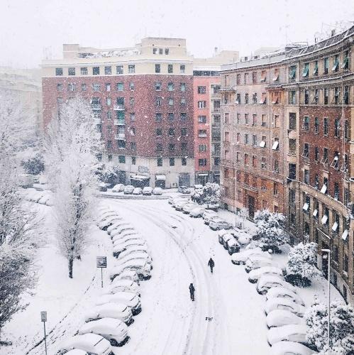 Neve a Roma: Prati