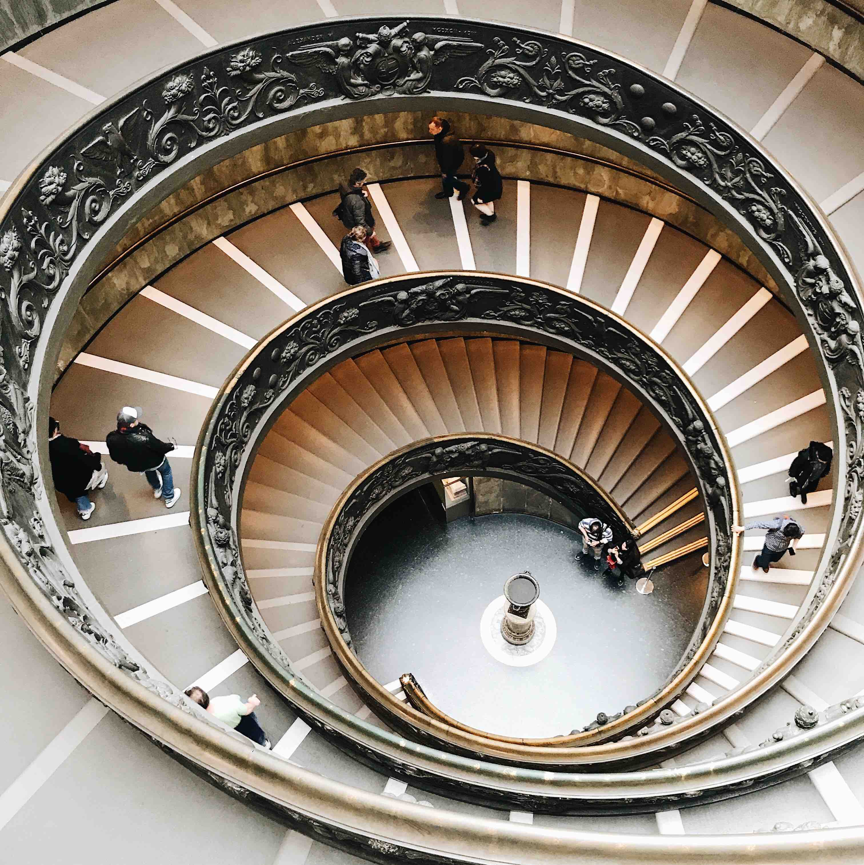 Visiting the Vatican Museum: Momo Staircase