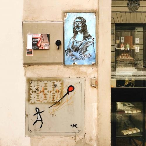 Street Art a Firenze: Blub e La Gioconda