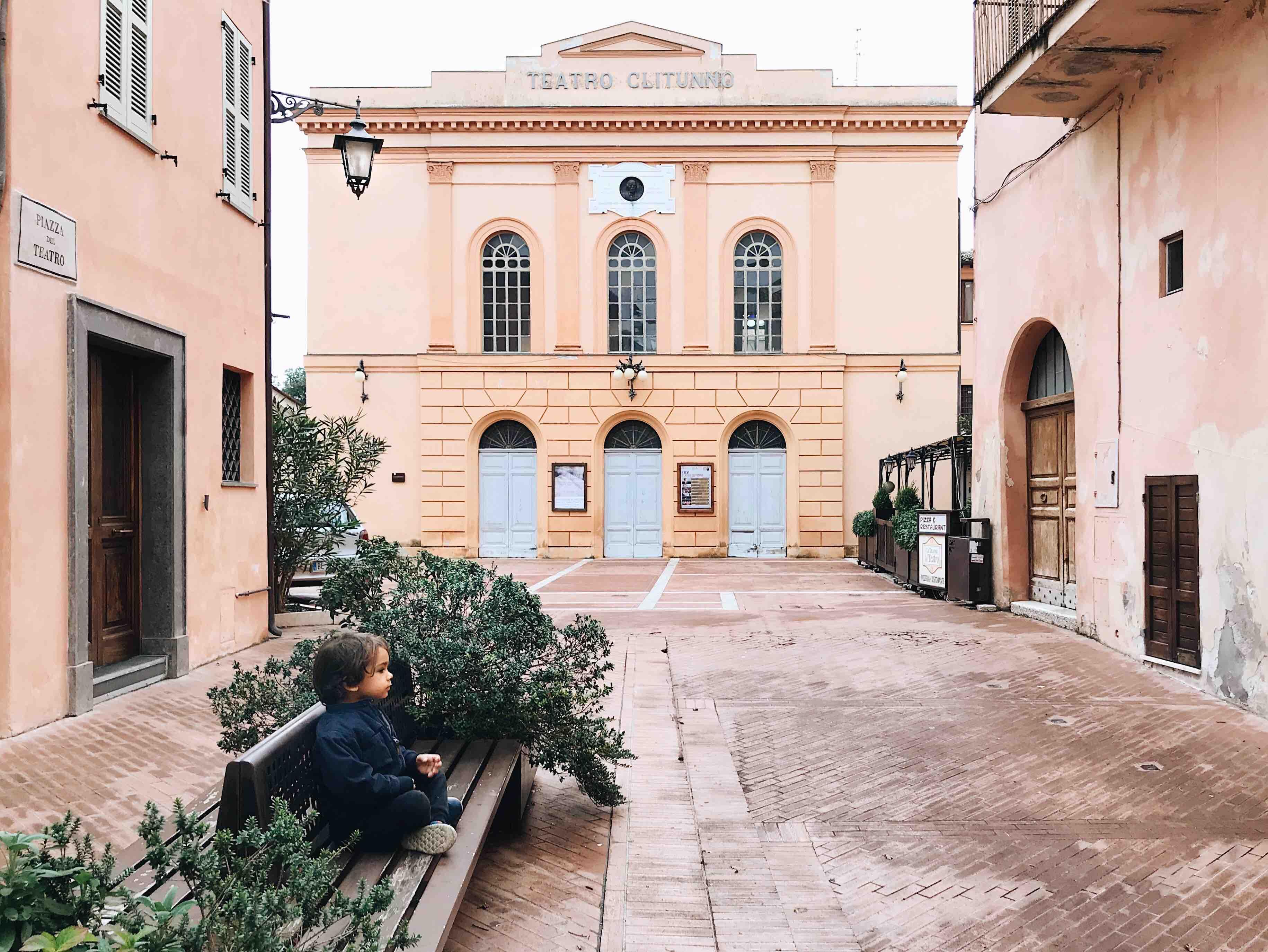 I borghi dell'Umbria: Teatro Clitunno a Trevi