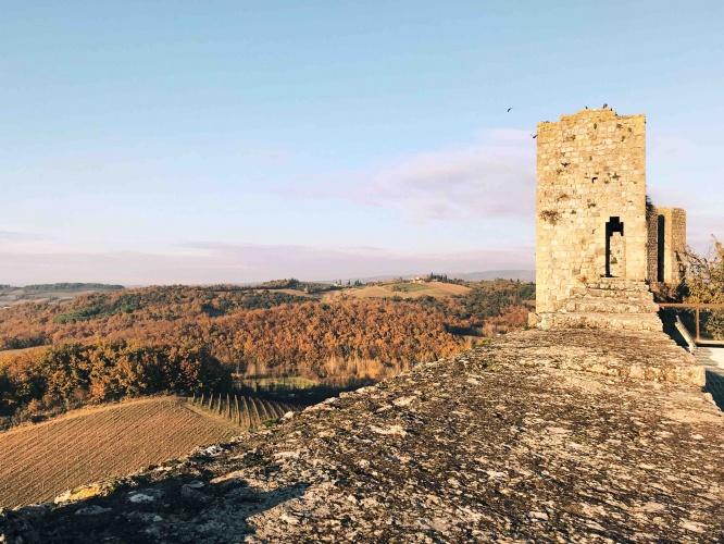 Panorama dalla cinta muraria di Monteriggioni