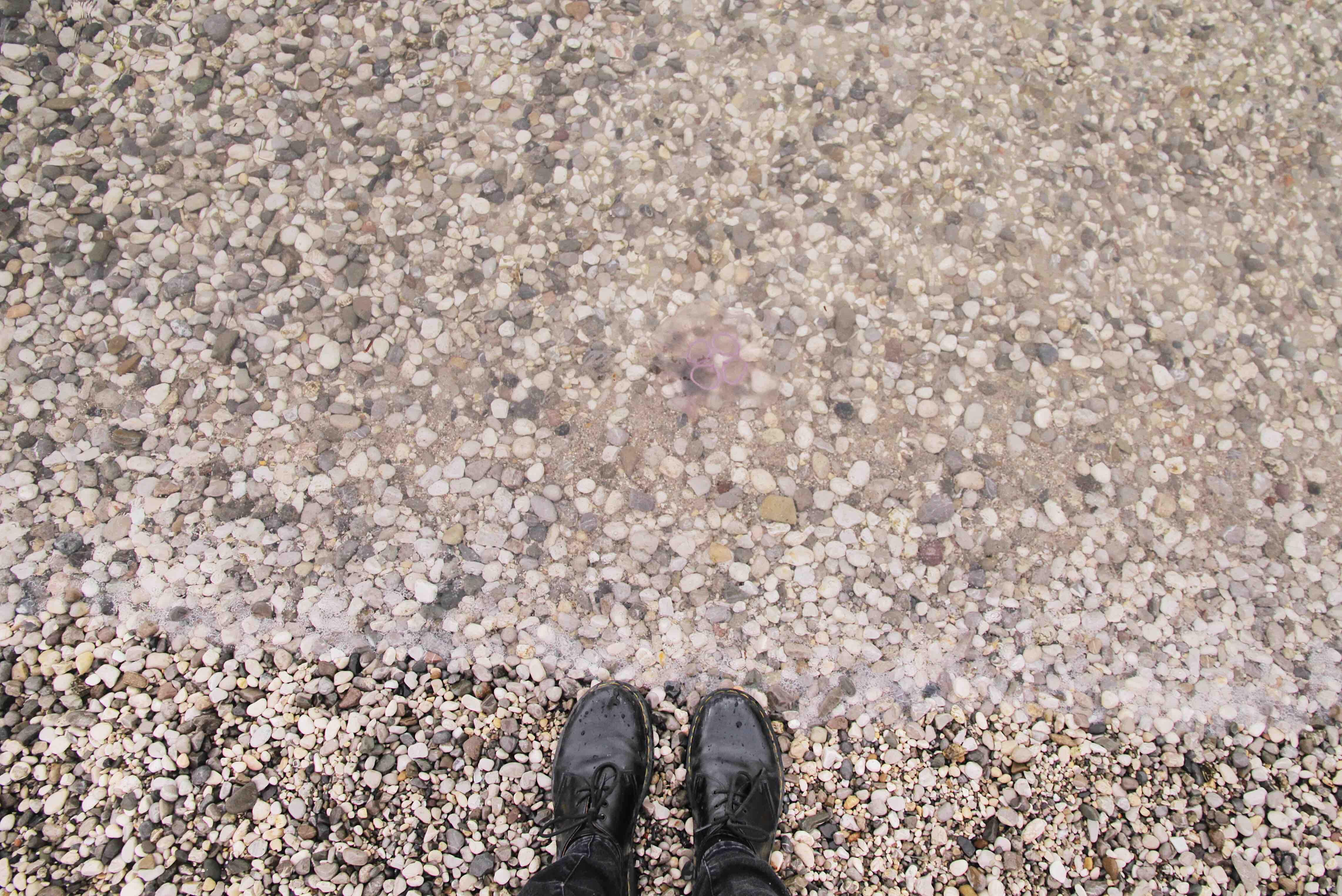 Al mare d'inverno: la spiaggia Pedocin di Trieste