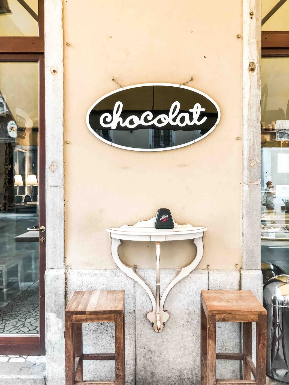 Insegna Chocolat Trieste