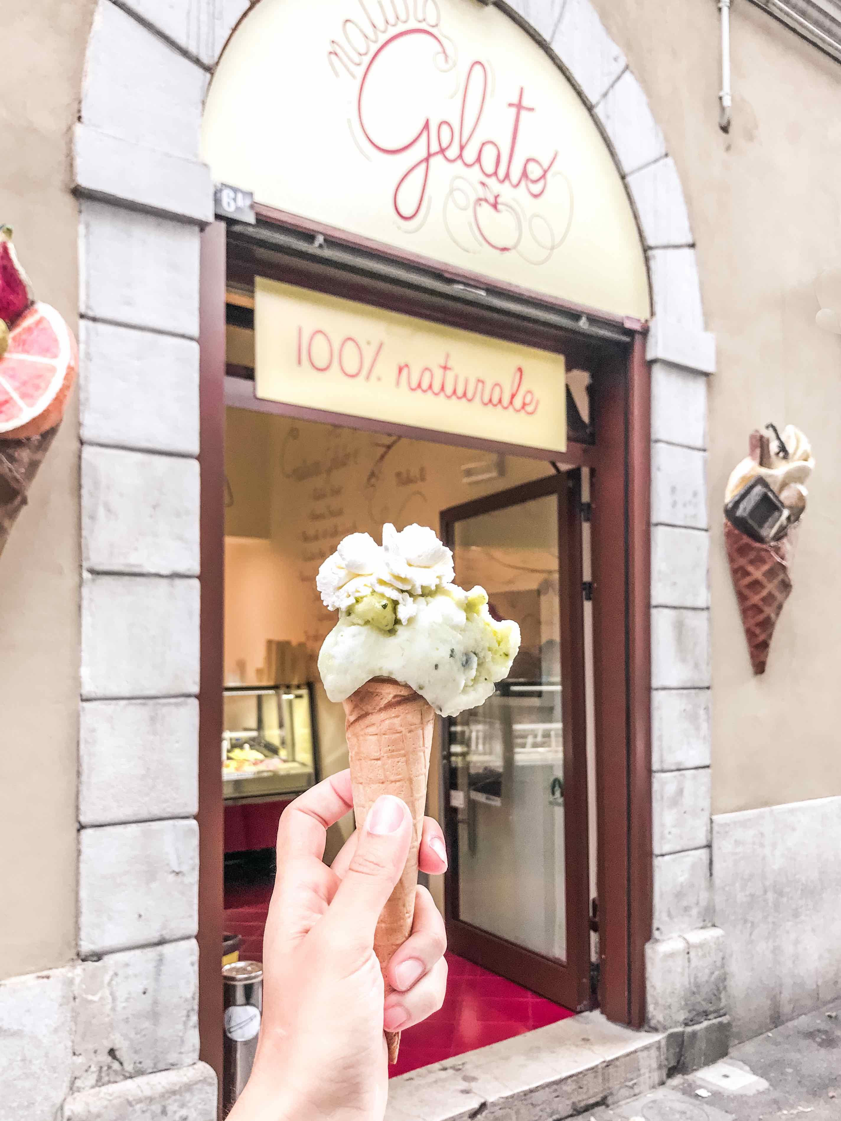 Gelato Natura: cono gelato al gusto cetriolo