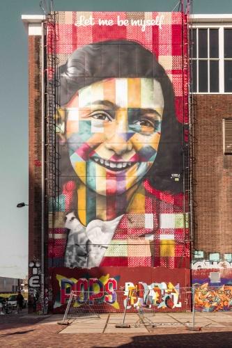 29 cose da vedere ad Amsterdam: murales di Anna Frank