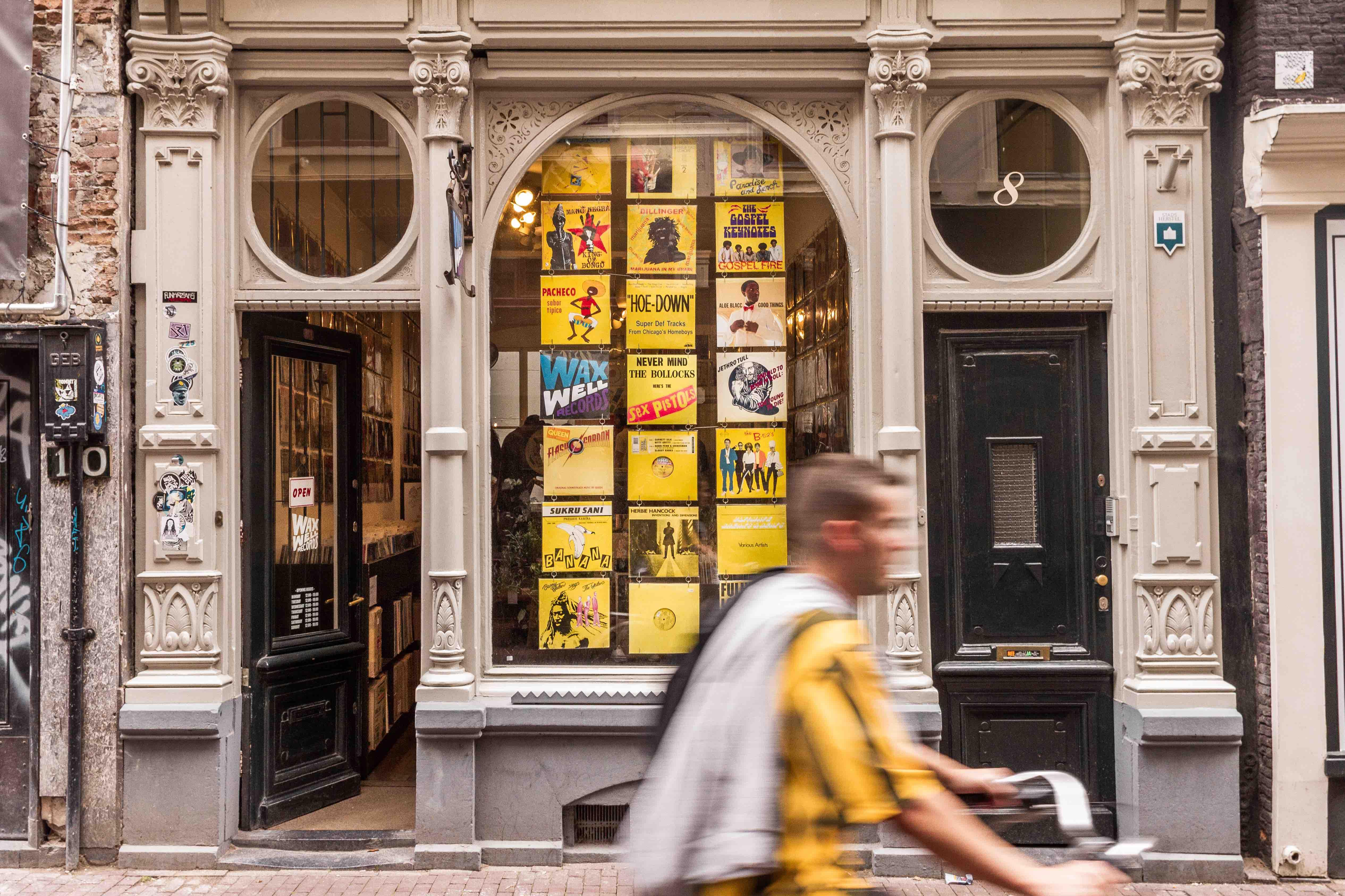 29 cose da vedere ad Amsterdam: facciata del negozio Waxwell