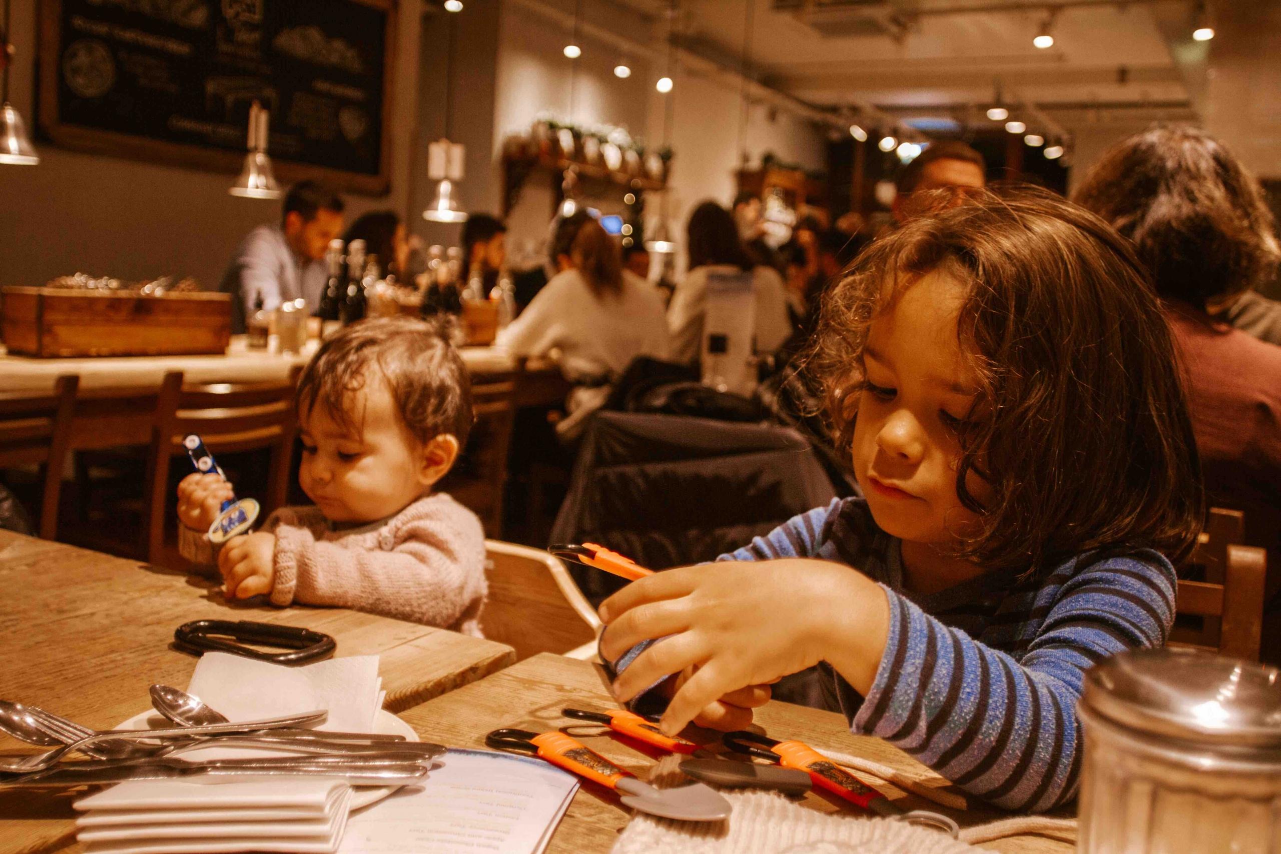 bambini al ristorante a Londra