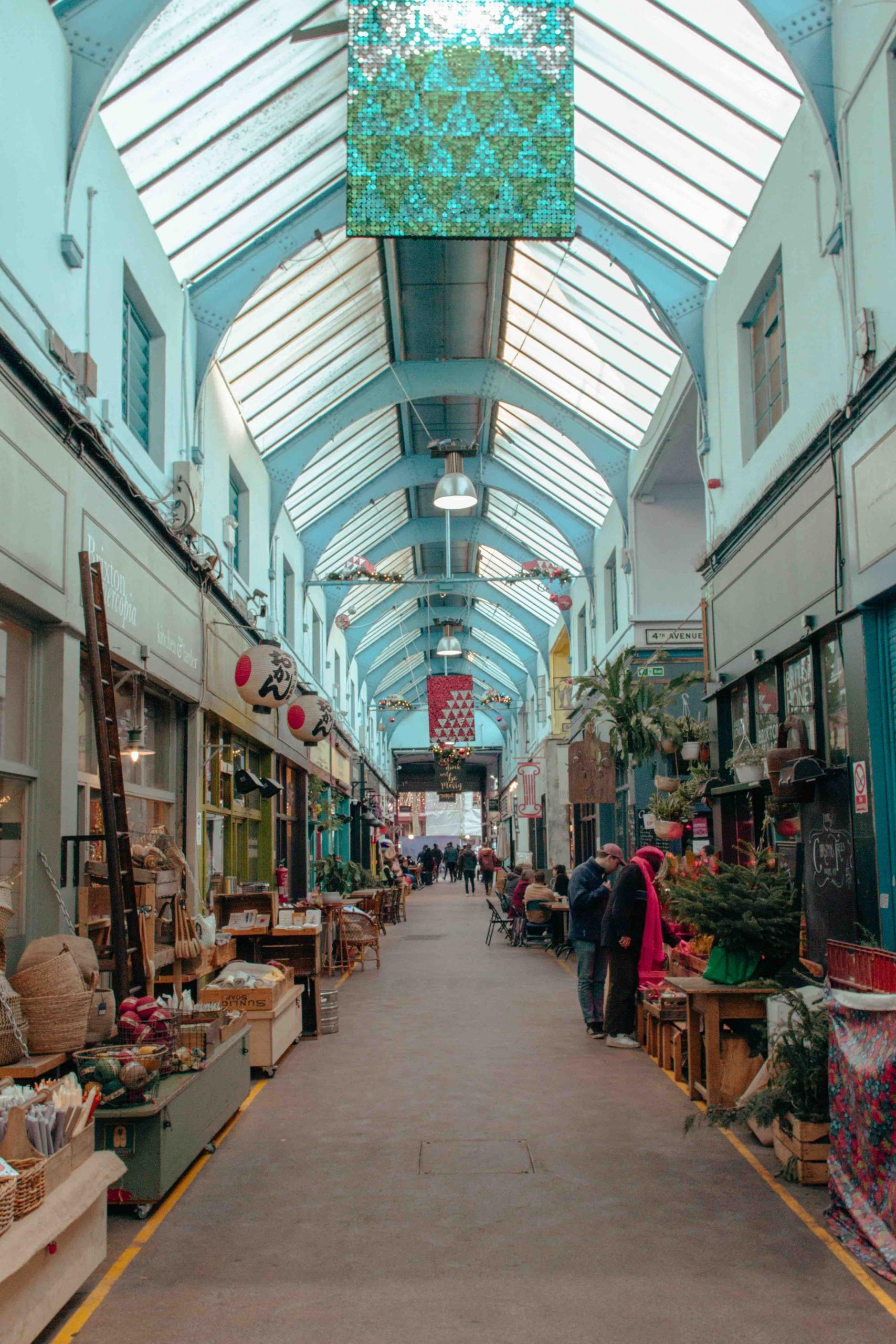 interno di mercato coperto a Brixton