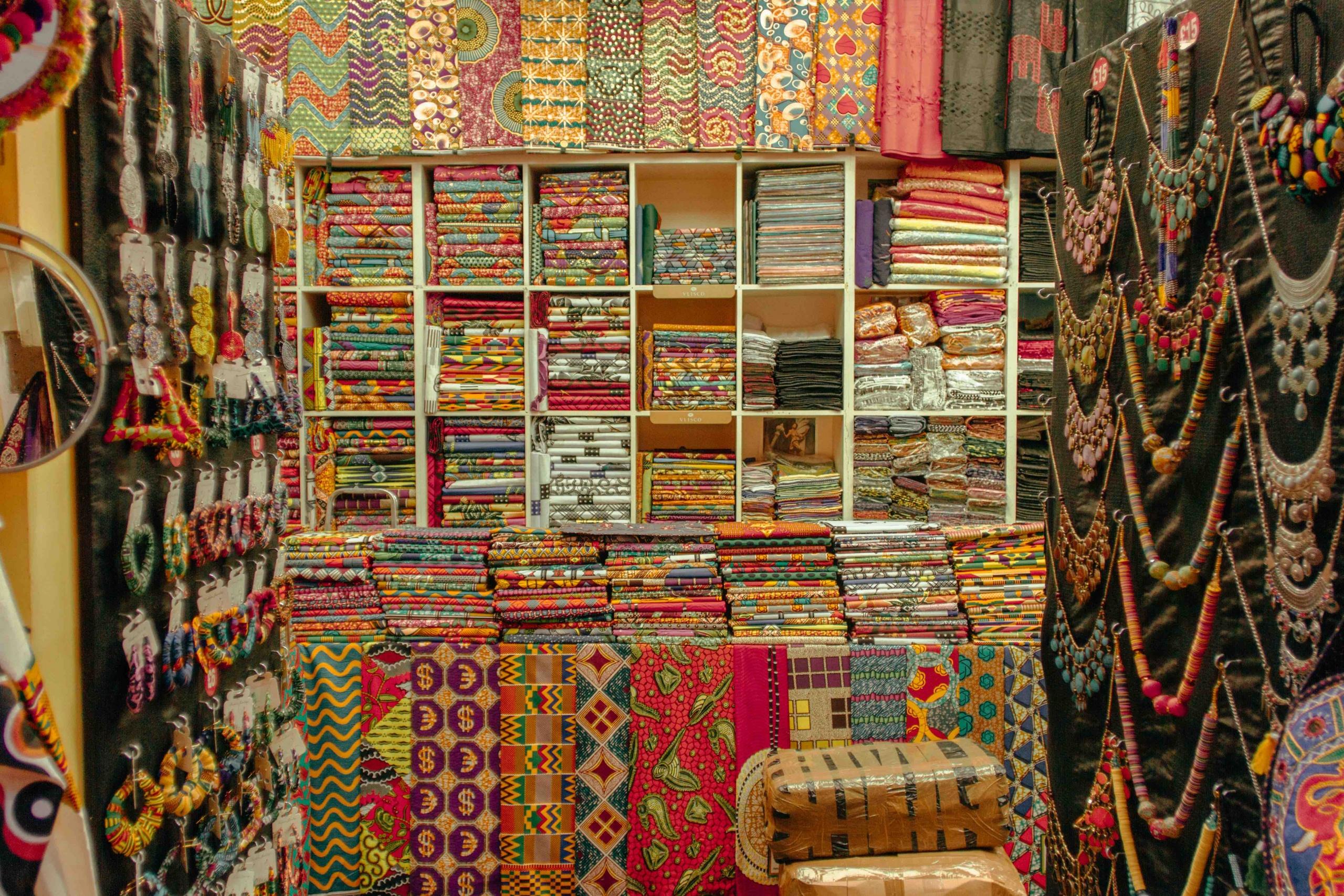 negozio di stoffe africane a Brixton
