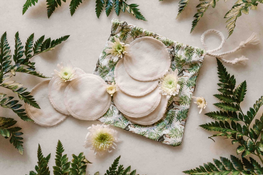 Dischetti di stoffa in cotone organico