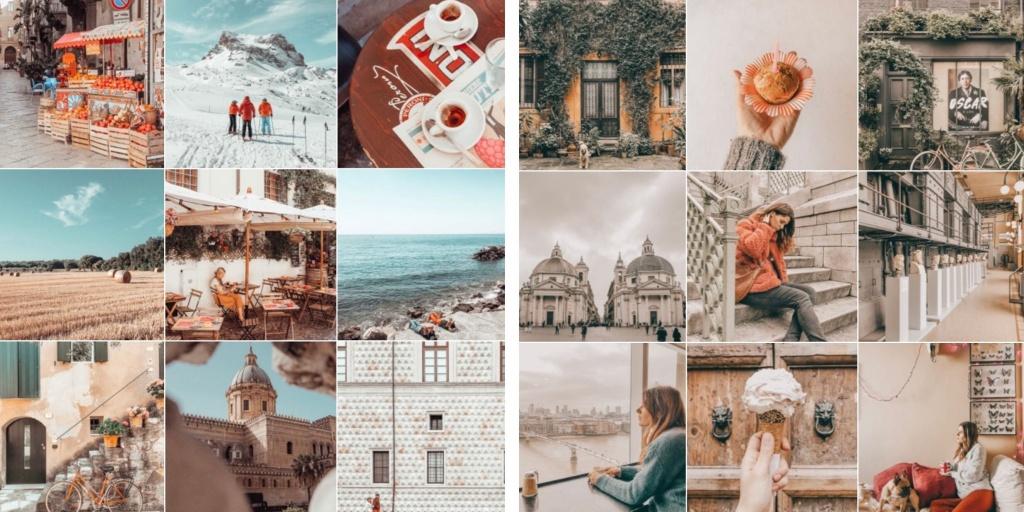 Fare belle foto per Instagram: armonia cromatica