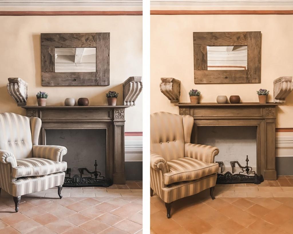 Due foto uguali scattate con luce diversa