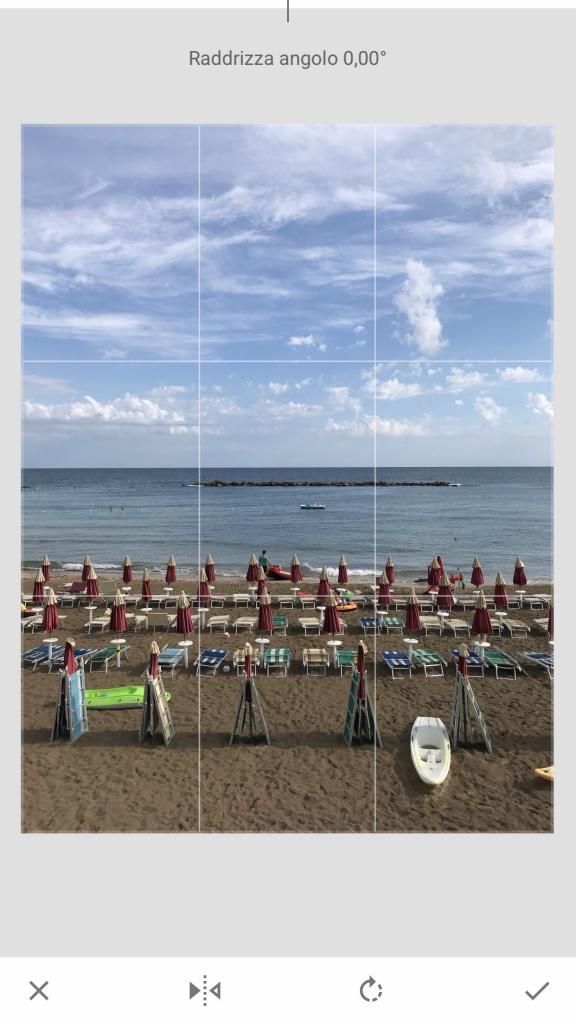 Fare belle foto per Instagram: raddrizzare le linee