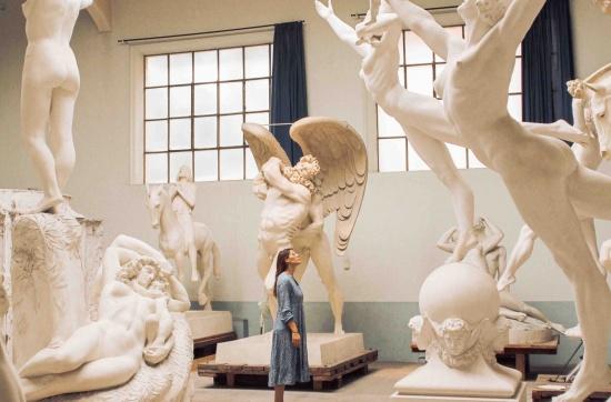 Studio con sculture al museo Hendrick Christian Andersen