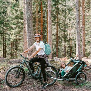lunga via delle dolomiti in bici con i bambini