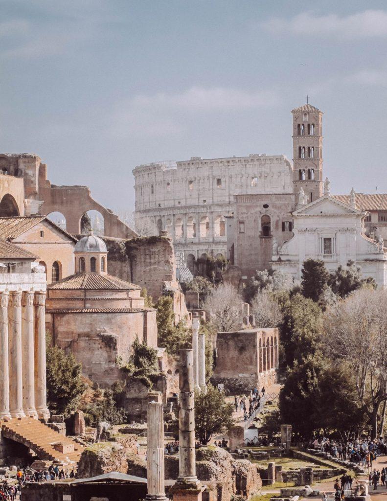 piazze di roma vista sul foro imperiale