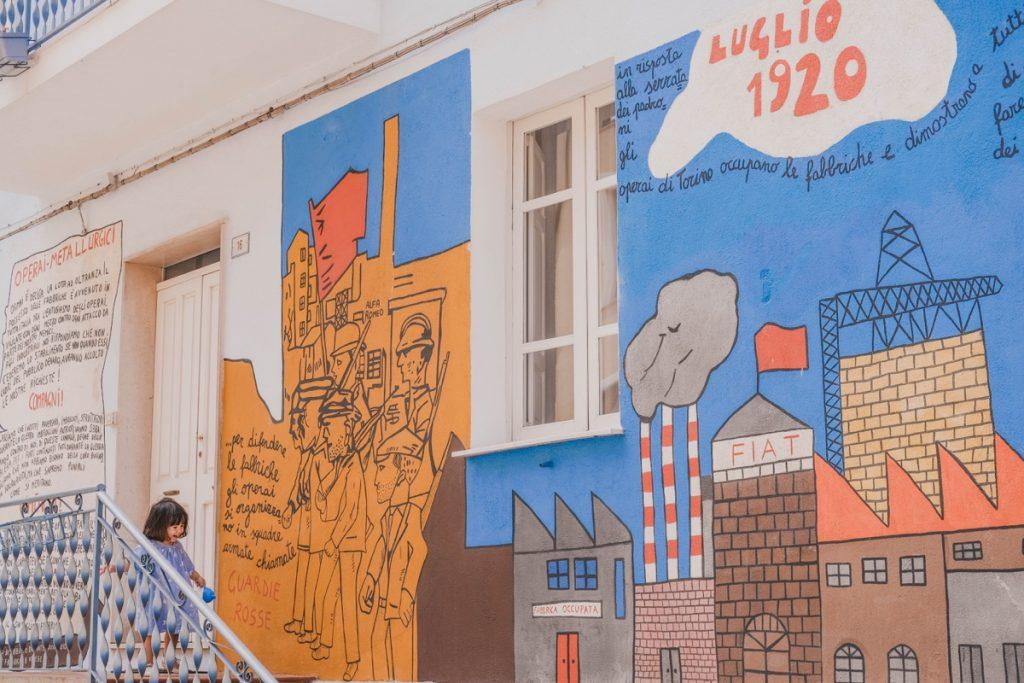 murales nel paese di Orgosolo