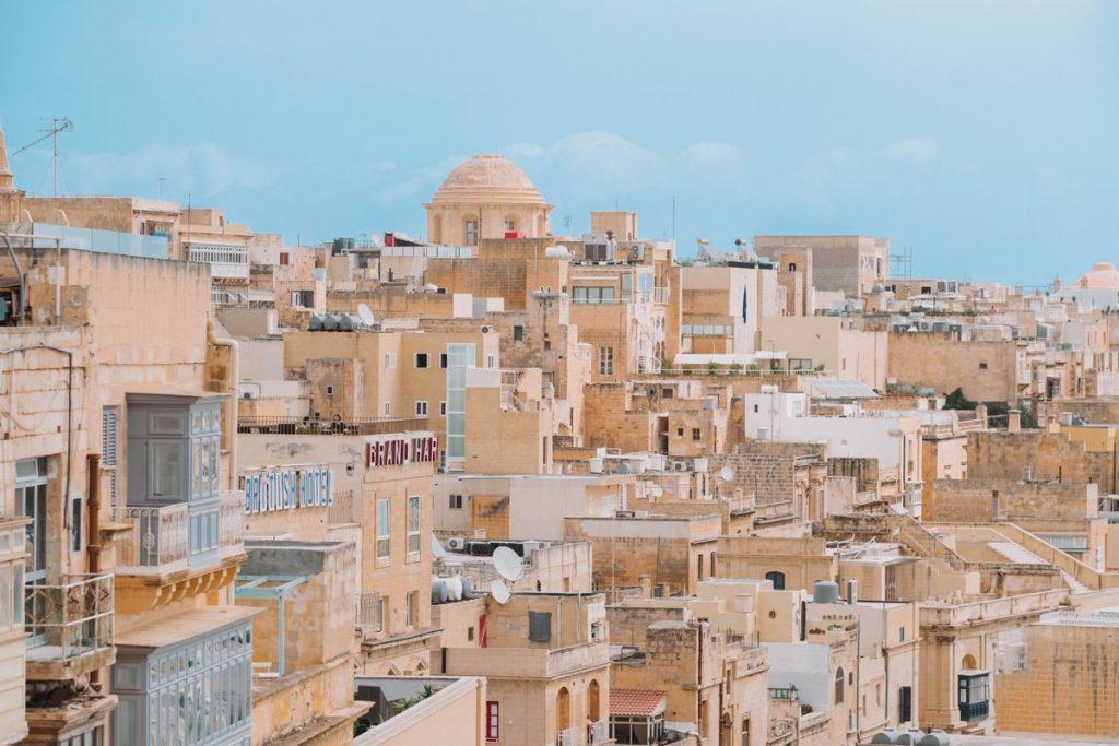 Vista panoramica dai Barakka Gardens de La Valletta