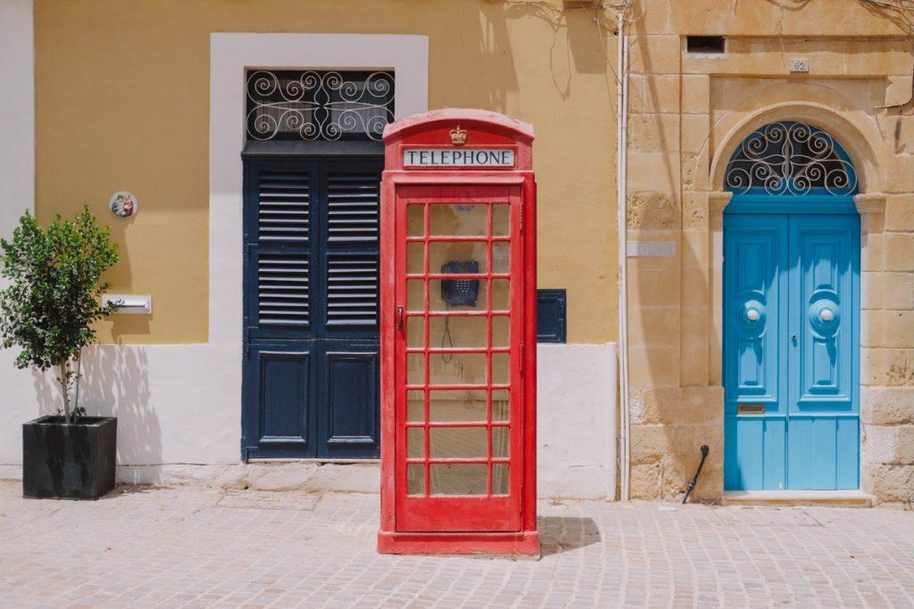cabina telefonica rossa come quelle di londra