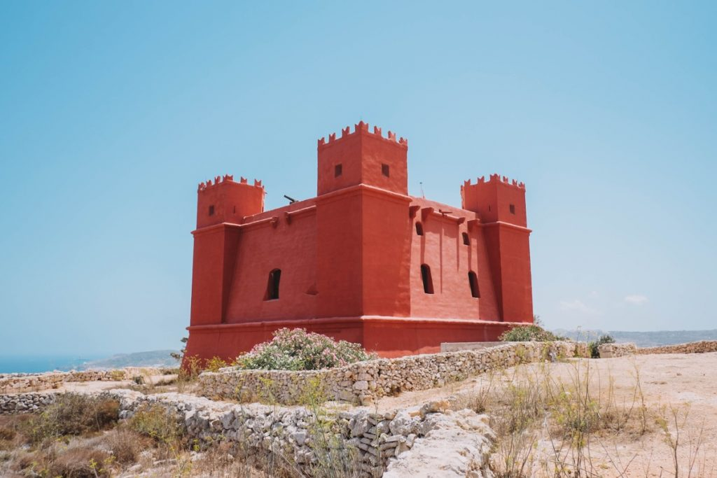Cosa vedere a Malta torre rossa