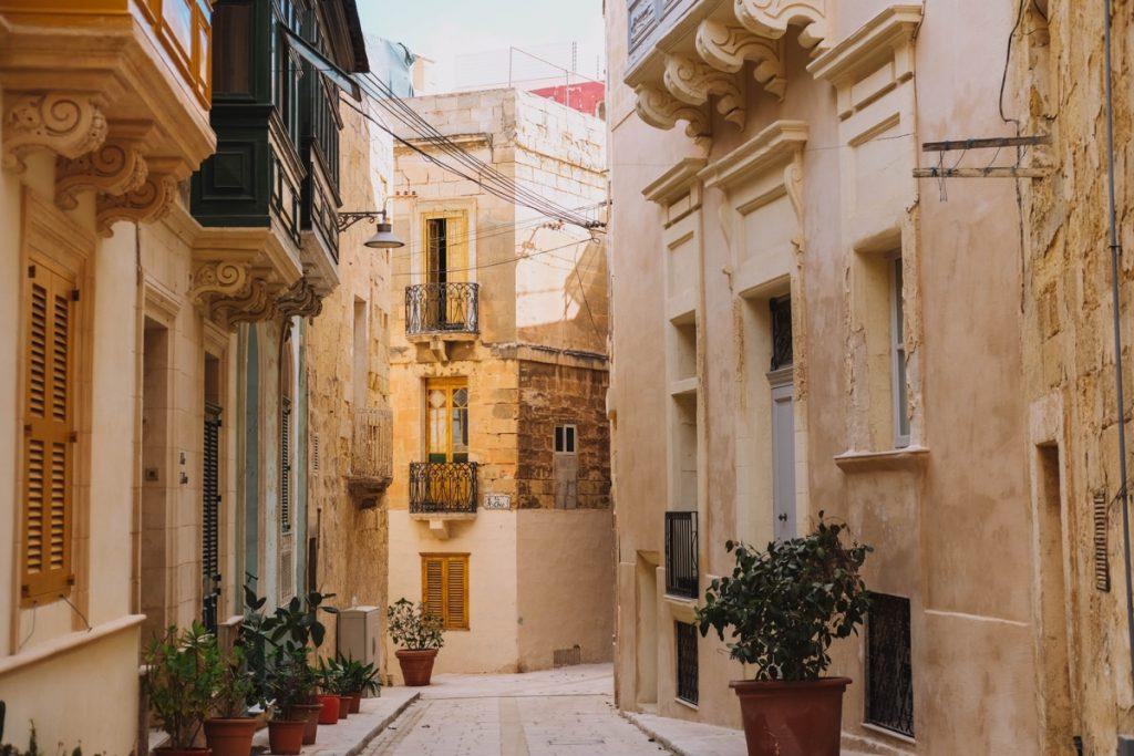Vicoli di Vittoriosa a Malta